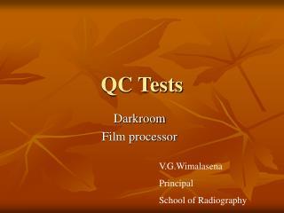 QC Tests