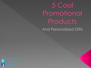 5 Cool Promotional Products