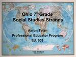 Ohio 7th Grade  Social Studies Strands