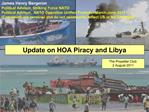 Update on HOA Piracy and Libya