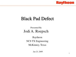 Black Pad Defect