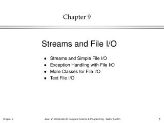 Streams and Simple File I