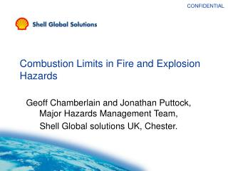 Combustion Limits in Fire and Explosion Hazards
