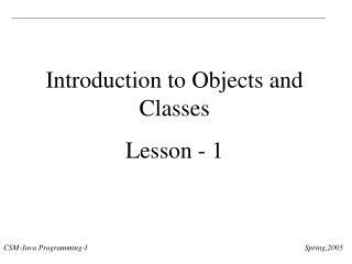 CSM-Java Programming-I                                 Spring,2005