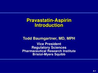 Pravastatin-Aspirin Introduction