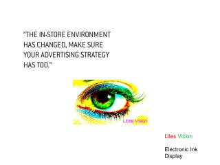 Lites Vision  Electronic Ink Display