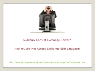 Repair Corrupt Exchange 2010 Database