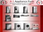 Home Appliances DIY Repairing Parts Store