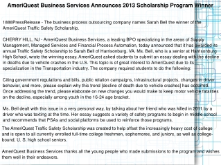 AmeriQuest Business Services Announces 2013 Scholarship Prog