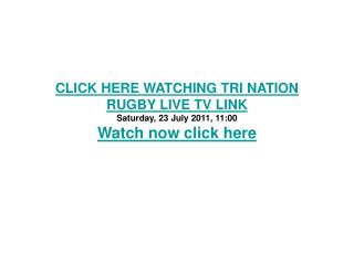 wallabies v springboks live stream 2011 tri nation rugby hd