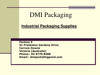 Industrial Packaging Supplies Australia
