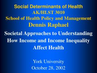 Social Determinants of Health  AK