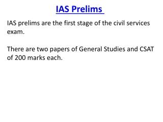 IAS Prelims