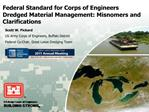 Federal Standard for Corps of Engineers Dredged Material Management: Misnomers and Clarifications