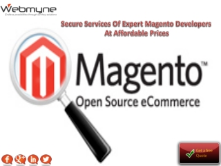 Secure Services Of Expert Magento Developers At Affordable P