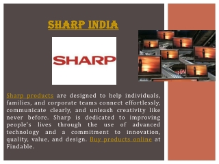 Buy Sharp Electronics products online at lower price