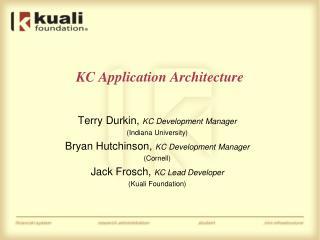 KC Application Architecture