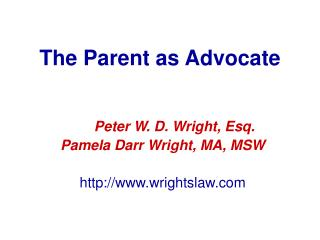 The Parent as Advocate