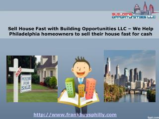 Sell House Fast Philadelphia