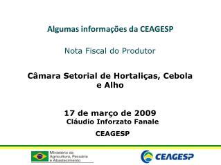 Algumas informa  es da CEAGESP
