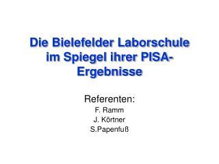 Die Bielefelder Laborschule  im Spiegel ihrer PISA-Ergebnisse
