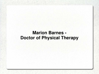 Marion Barnes