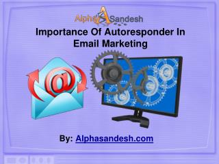 Importance Of Autoresponder In Email Marketing