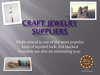 Craft jewelry suppliers, Fashion Jewelry