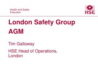 London Safety Group AGM