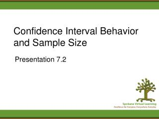 Confidence Interval Behavior and Sample Size