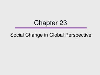 Social Change in Global Perspective