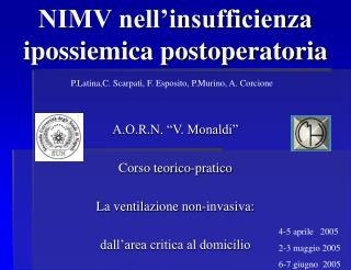 NIMV nell insufficienza ipossiemica postoperatoria