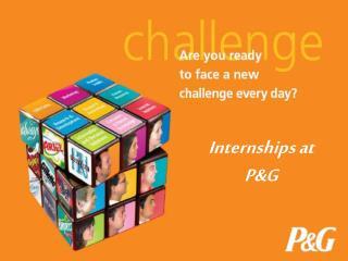 Internships at PG