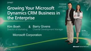 Growing Your Microsoft Dynamics CRM Business in the Enterprise