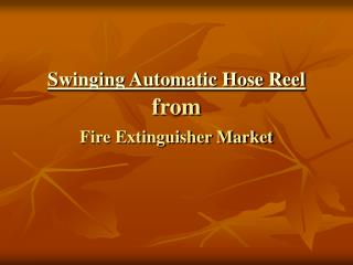 Swinging Automatic Hose Reel