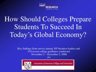 How Should Colleges Prepare Students To Succeed In  Today s Global Economy