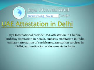UAE attestation