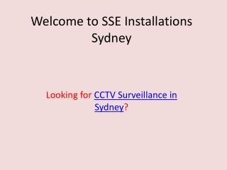 CCTV Surveillance Sydney