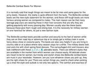 Belleville Combat Boots For Women