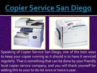 Copier Service San Diego
