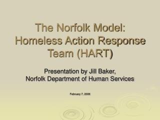 The Norfolk Model: Homeless Action Response Team HART