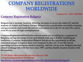 Company Registration Bulgaria