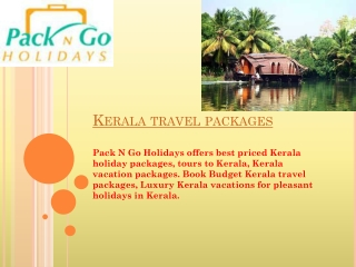 Kerala Vacation Packages