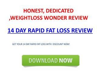 14 DAY RAPID FAT LOSS REVIEW