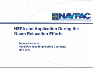 NEPA and Application During the Guam Relocation Efforts