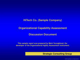 Organizational Capability Assessment  Discussion Document