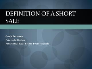 Definition of a Short Sale