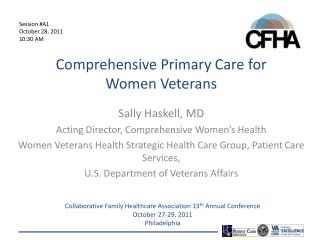 Comprehensive Primary Care for      Women Veterans