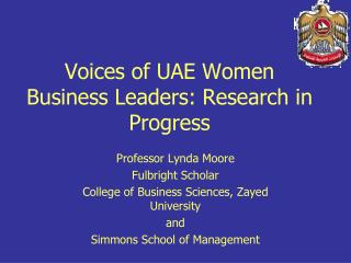 Voices of UAE Women Business Leaders: Research in Progress