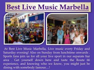 Best Live Music Marbella